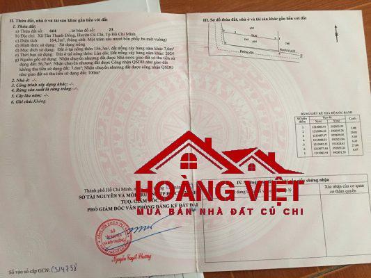 đất đường 124 xã tân thạnh đông huyện củ chi