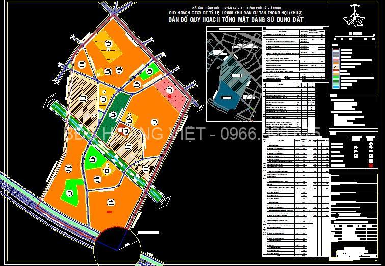 Bản đồ quy hoạch xã Tân Thông Hội Củ Chi