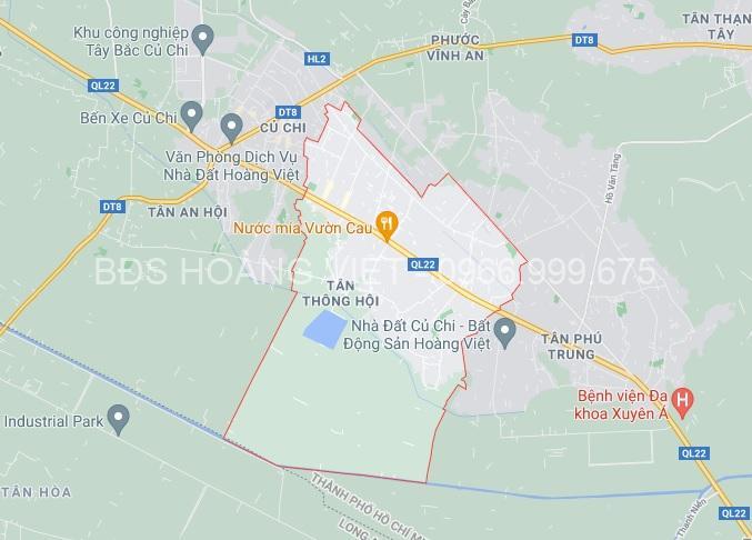 Xã Tân Thông Hội huyện Củ Chi - theo Google Map