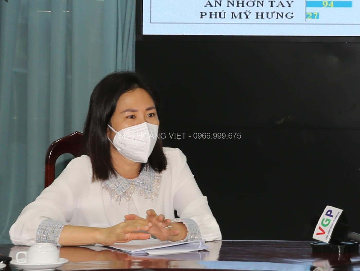 Chủ tịch UBND huyện Củ Chi Phạm Thị Thanh Hiền: Sức dân là sức mạnh to lớn nhất để chống dịch thành công - Ảnh VGP